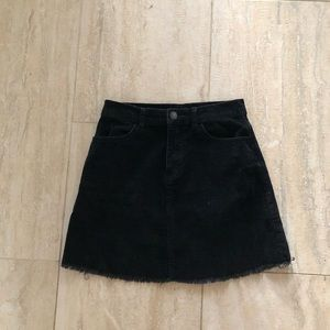 Black Brandy Melville Corduroy Skirt